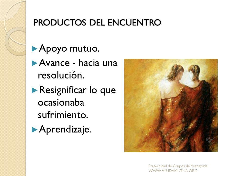 PRODUCTOS DEL ENCUENTRO