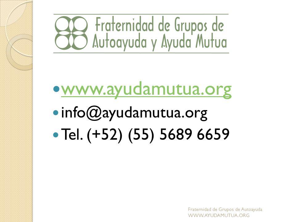 www.ayudamutua.org info@ayudamutua.org Tel. (+52) (55) 5689 6659