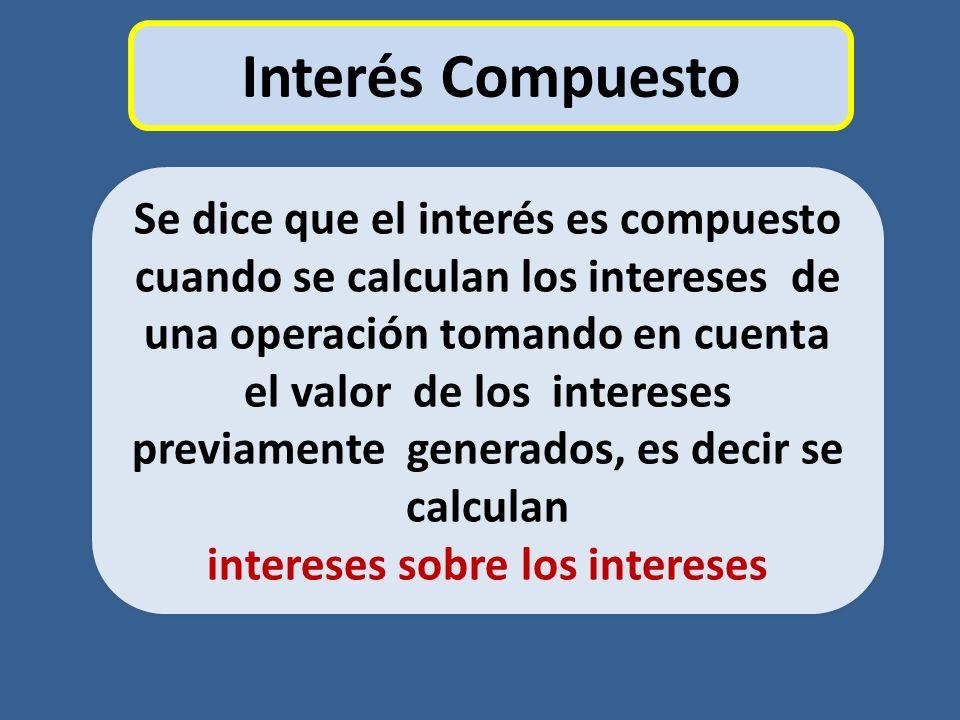 intereses sobre los intereses