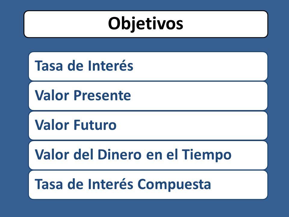 Objetivos Tasa de Interés Valor Presente Valor Futuro