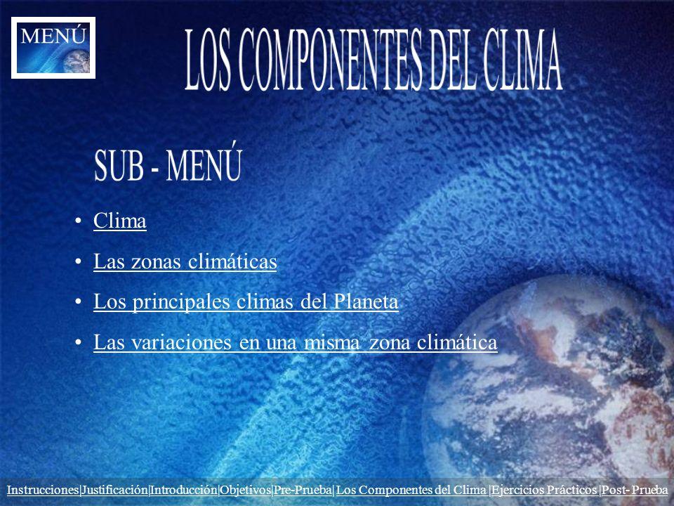LOS COMPONENTES DEL CLIMA