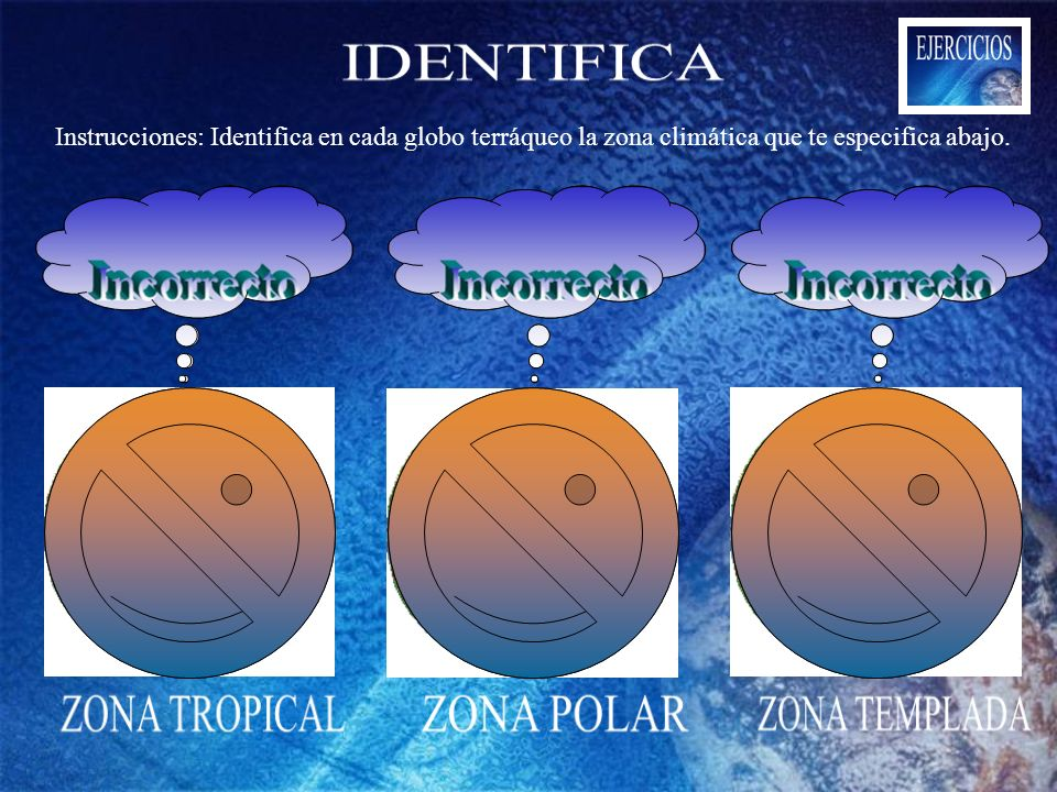 IDENTIFICA ZONA TROPICAL ZONA POLAR ZONA TEMPLADA