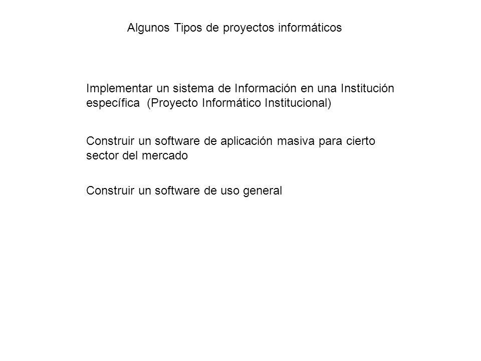 Algunos Tipos de proyectos informáticos