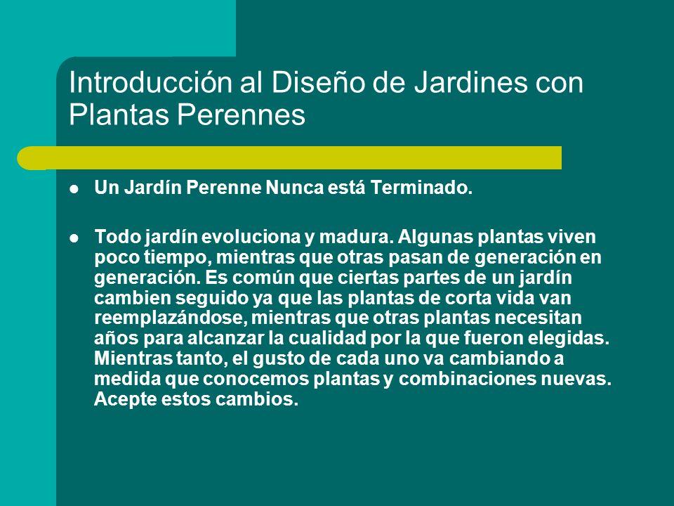 Introducción al Diseño de Jardines con Plantas Perennes