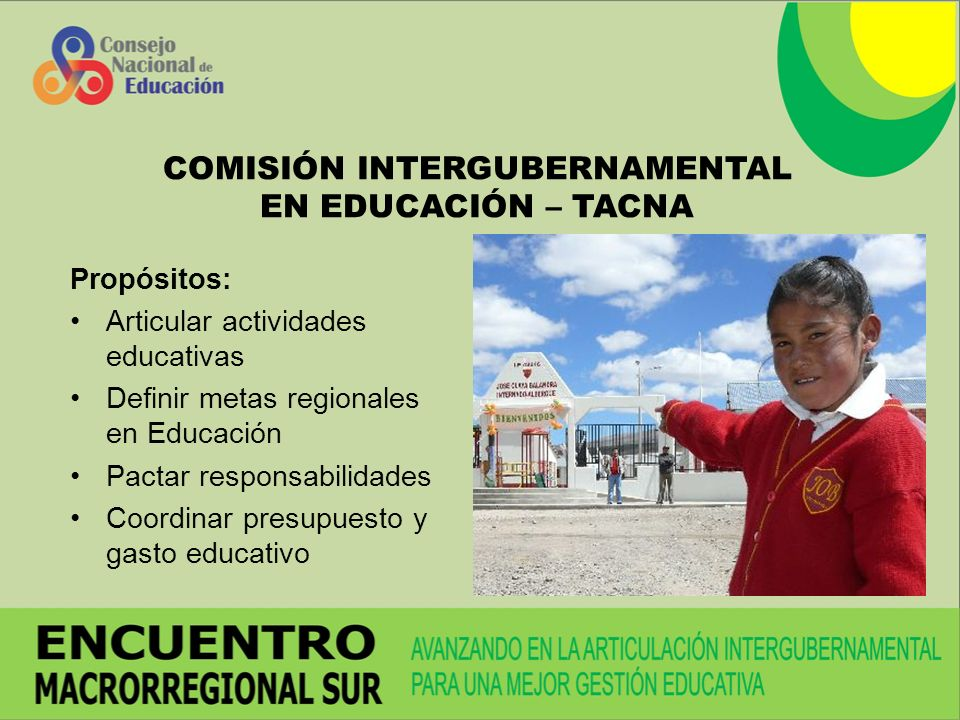 COMISIÓN INTERGUBERNAMENTAL EN EDUCACIÓN – TACNA