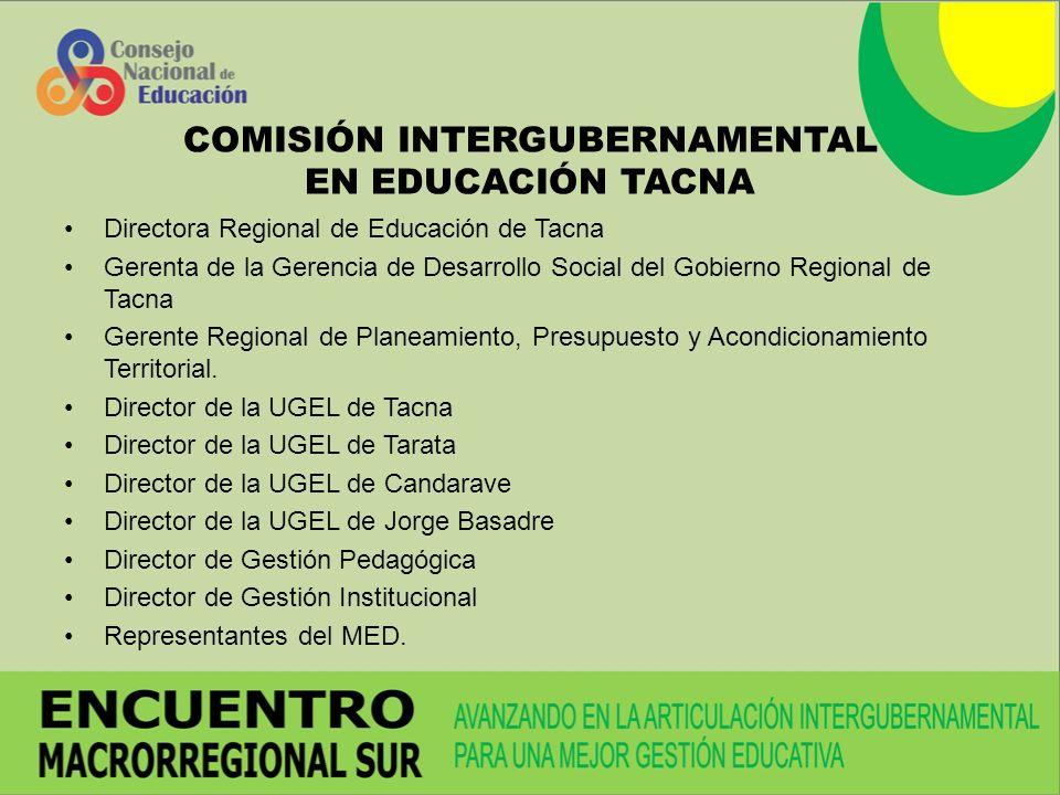 COMISIÓN INTERGUBERNAMENTAL EN EDUCACIÓN TACNA