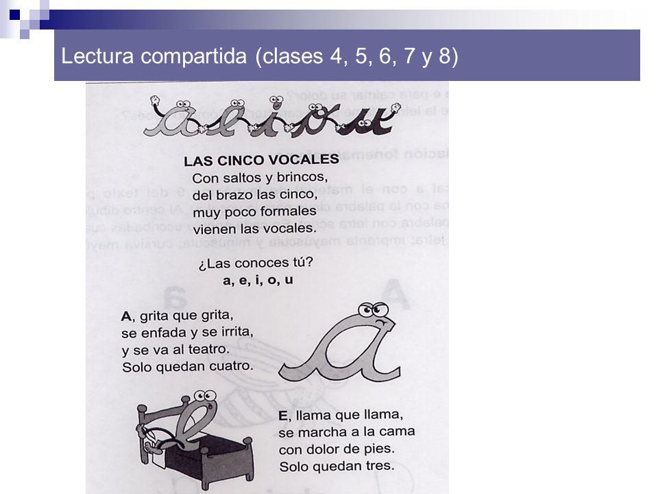 Lectura compartida (clases 4, 5, 6, 7 y 8)