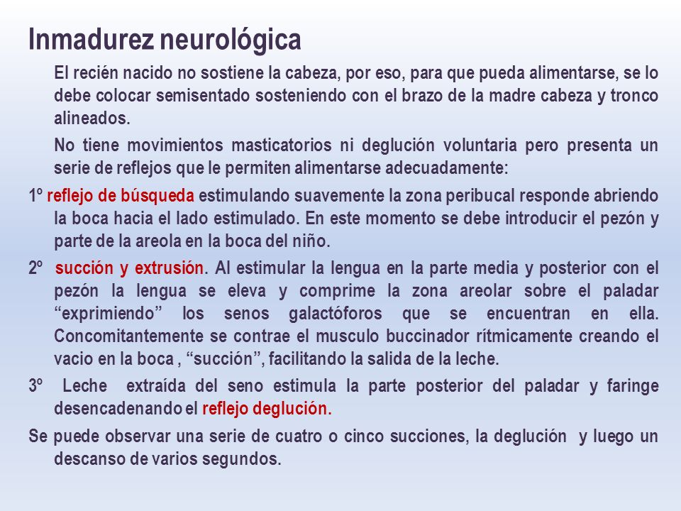 Inmadurez neurológica