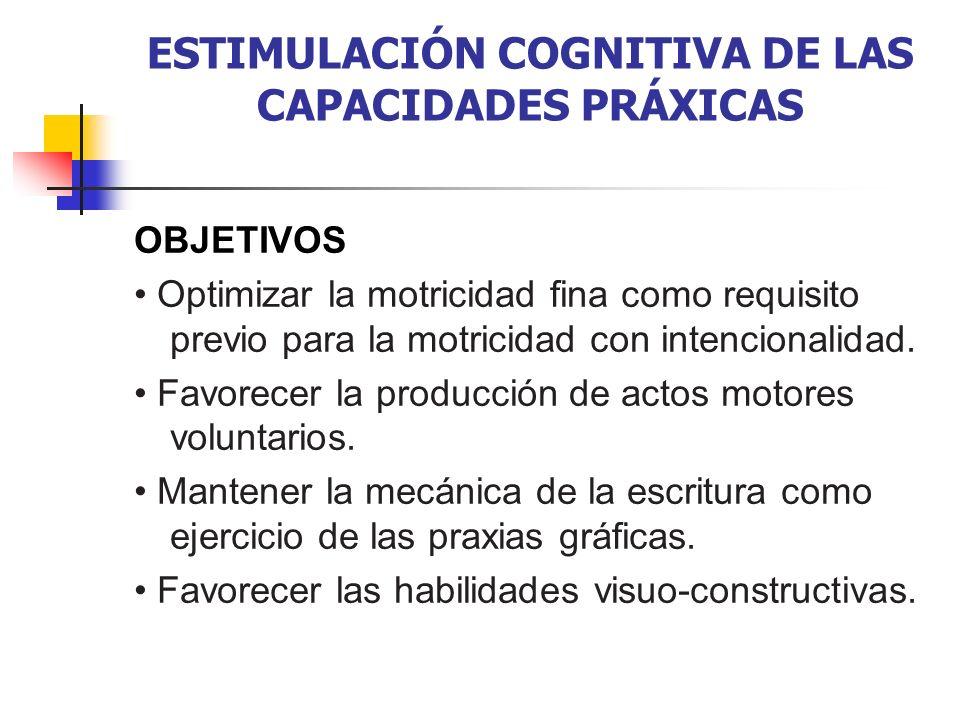 ESTIMULACIÓN COGNITIVA DE LAS CAPACIDADES PRÁXICAS