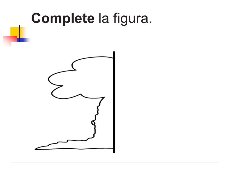 Complete la figura.