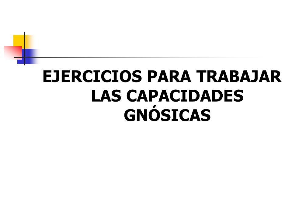 EJERCICIOS PARA TRABAJAR LAS CAPACIDADES GNÓSICAS