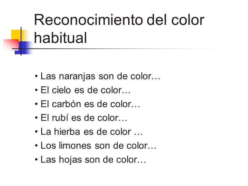 Reconocimiento del color habitual