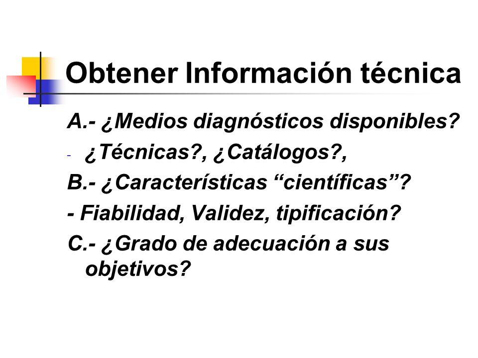 Obtener Información técnica