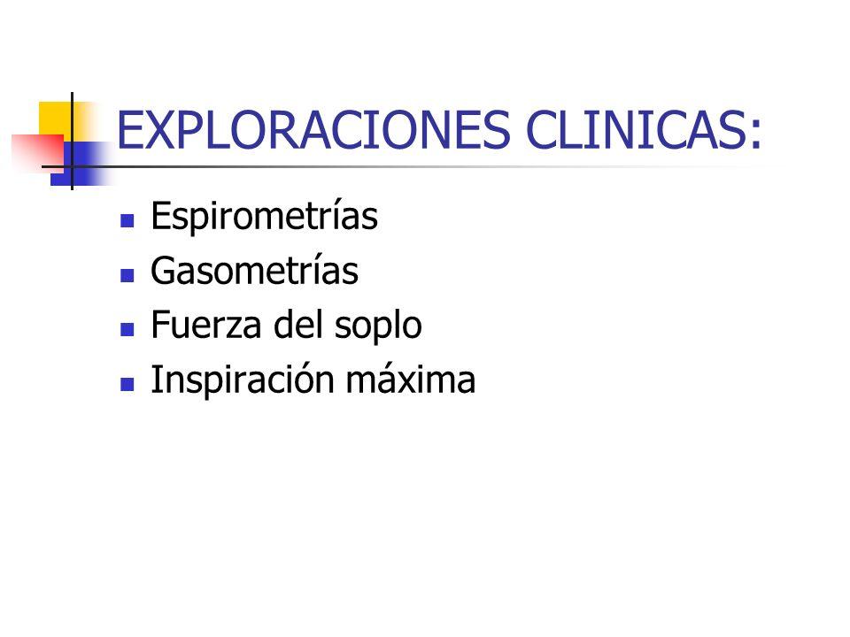 EXPLORACIONES CLINICAS: