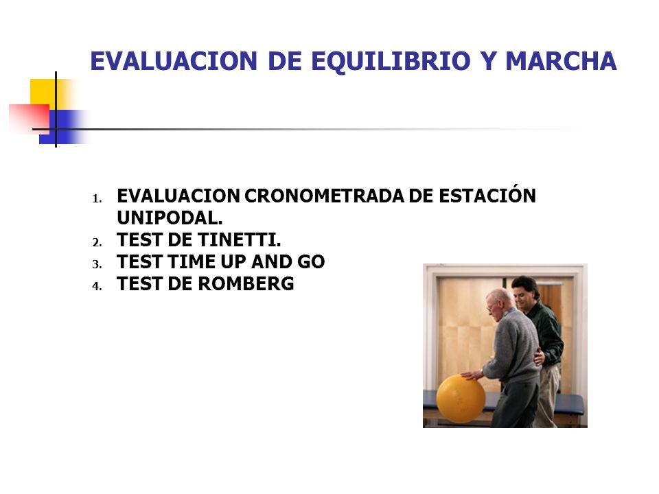 EVALUACION DE EQUILIBRIO Y MARCHA