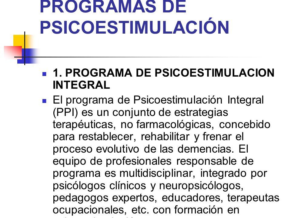 PROGRAMAS DE PSICOESTIMULACIÓN