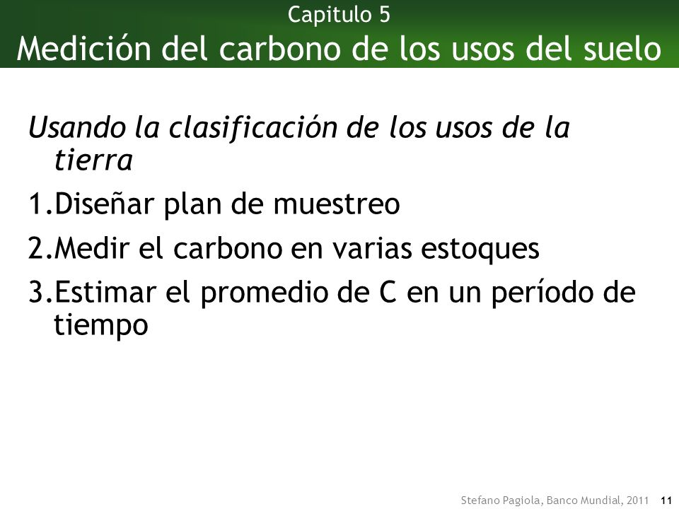 Capitulo 5 Medición del carbono de los usos del suelo