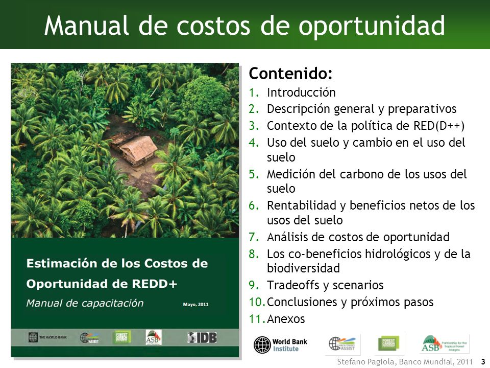 Manual de costos de oportunidad
