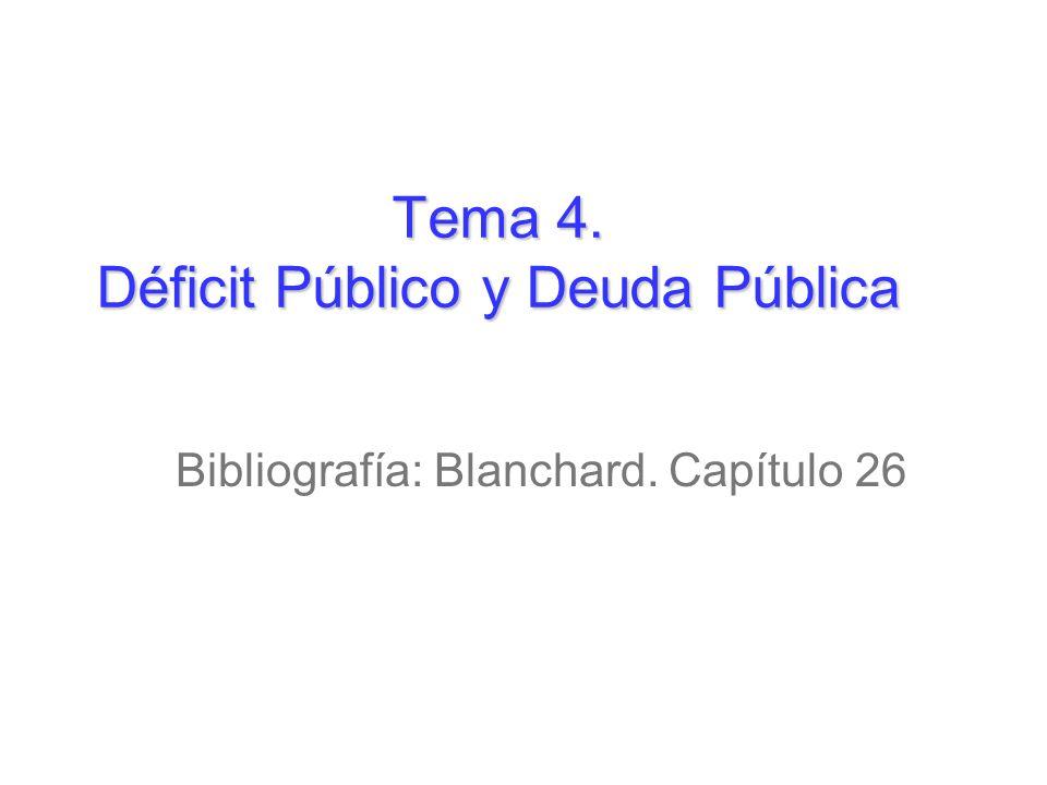 Tema 4. Déficit Público y Deuda Pública
