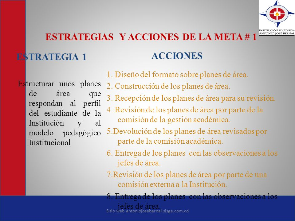 ESTRATEGIAS Y ACCIONES DE LA META # 1
