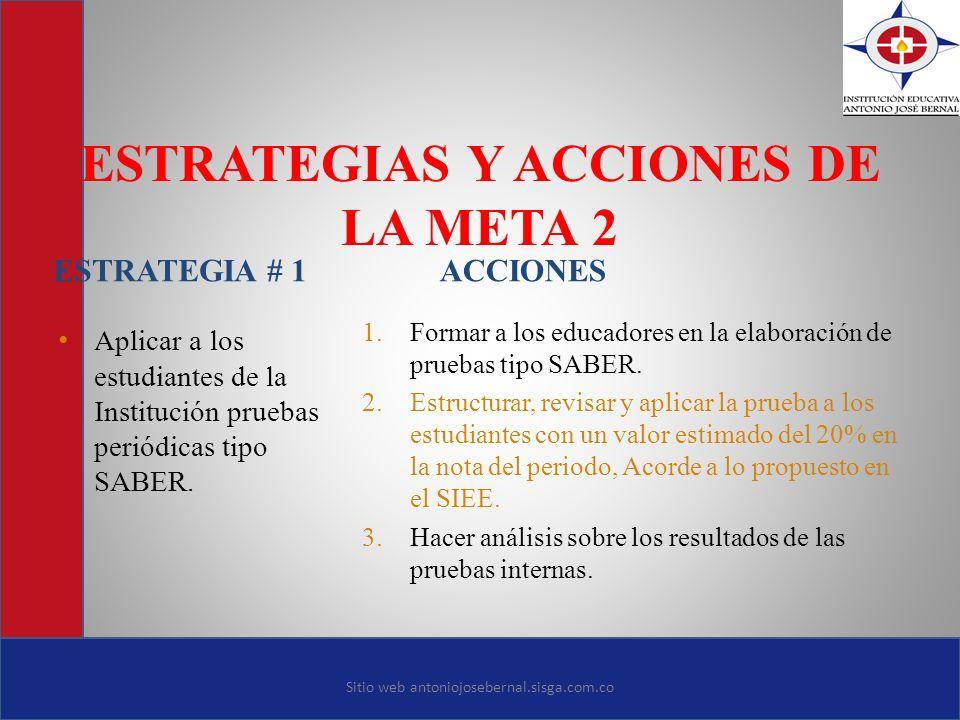 ESTRATEGIAS Y ACCIONES DE LA META 2