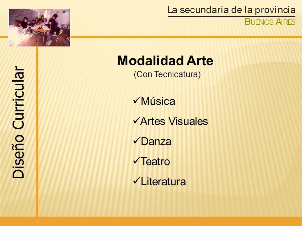 Diseño Curricular Modalidad Arte (Con Tecnicatura) Música