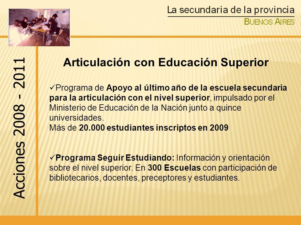 Articulación con Educación Superior