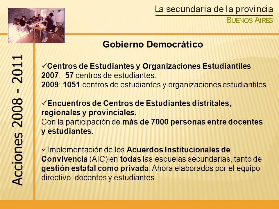 Acciones 2008 - 2011 Gobierno Democrático