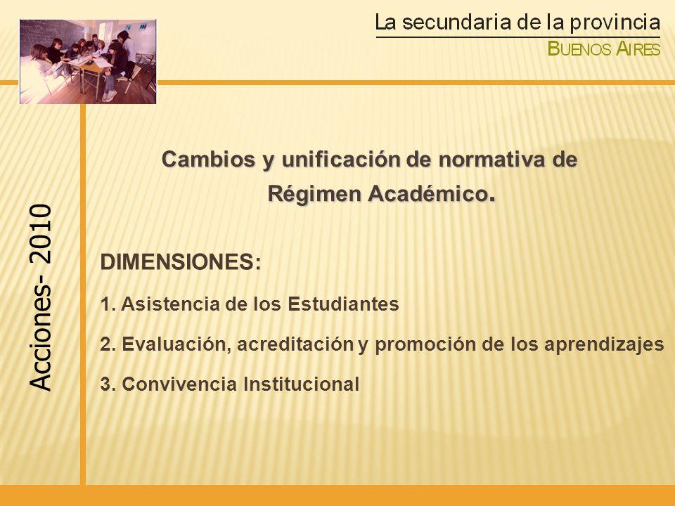 Cambios y unificación de normativa de Régimen Académico.