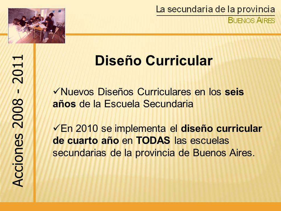 Diseño Curricular Acciones 2008 - 2011