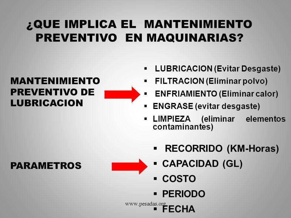 ¿QUE IMPLICA EL MANTENIMIENTO PREVENTIVO EN MAQUINARIAS