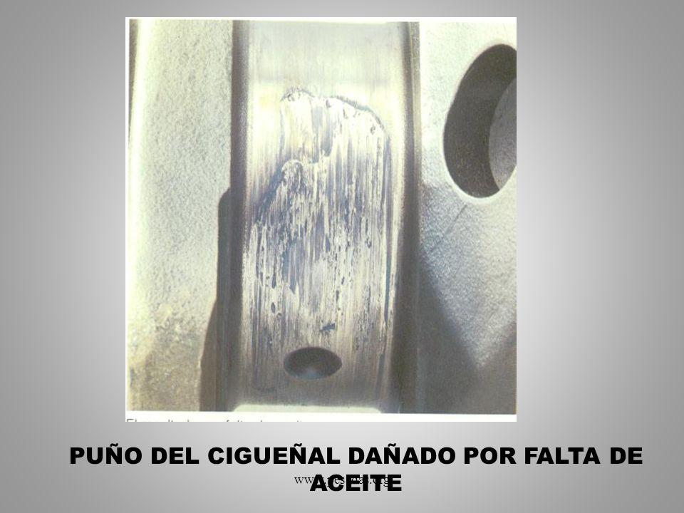 PUÑO DEL CIGUEÑAL DAÑADO POR FALTA DE ACEITE