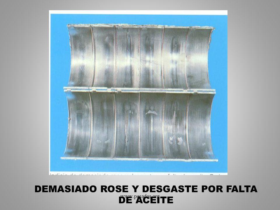 DEMASIADO ROSE Y DESGASTE POR FALTA DE ACEITE