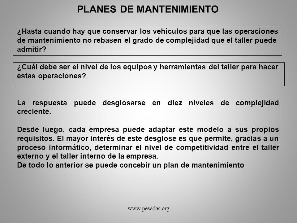 PLANES DE MANTENIMIENTO