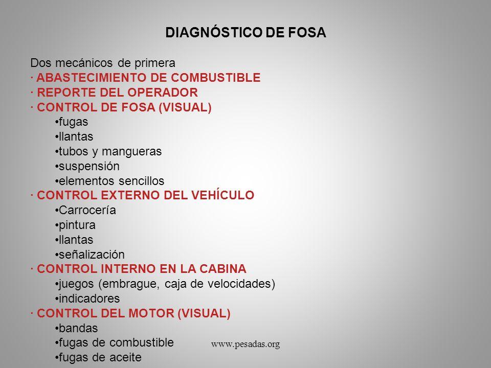 DIAGNÓSTICO DE FOSA Dos mecánicos de primera