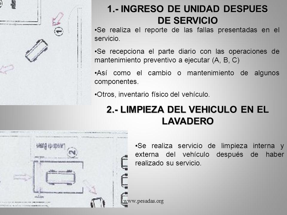 1.- INGRESO DE UNIDAD DESPUES DE SERVICIO