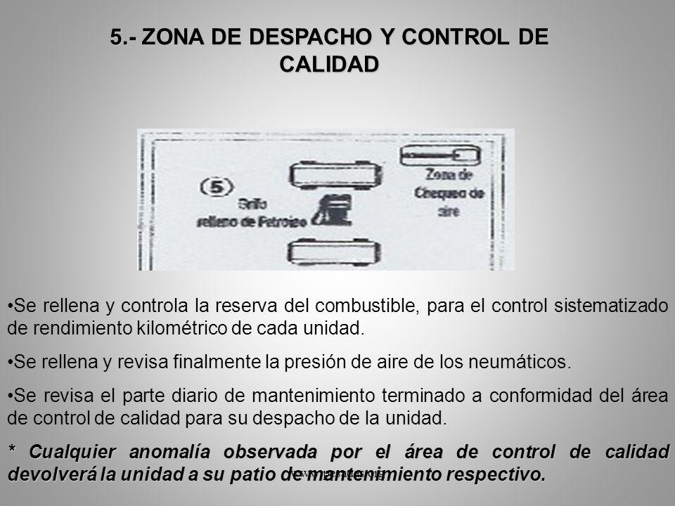 5.- ZONA DE DESPACHO Y CONTROL DE CALIDAD
