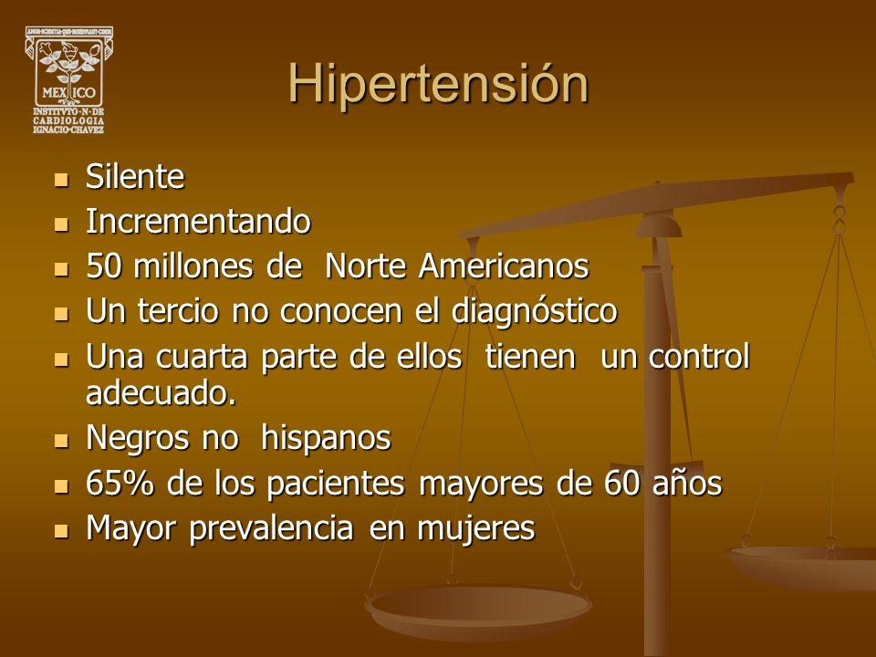 Hipertensión Silente Incrementando 50 millones de Norte Americanos