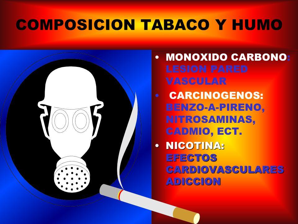 COMPOSICION TABACO Y HUMO