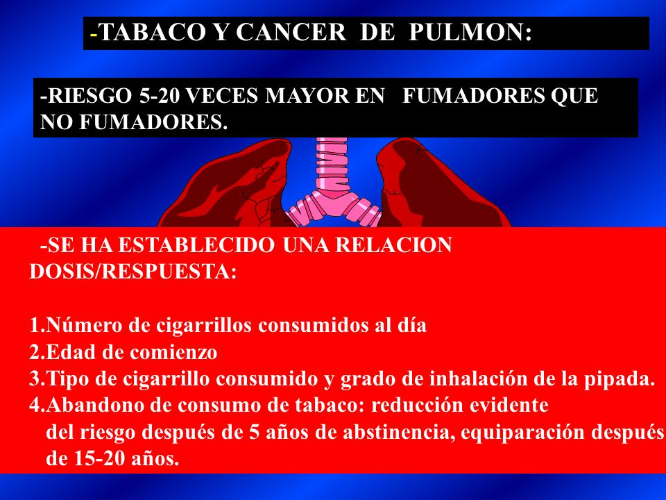 -TABACO Y CANCER DE PULMON: