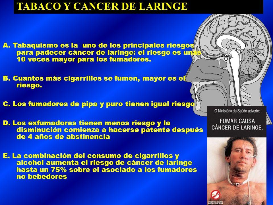 TABACO Y CANCER DE LARINGE