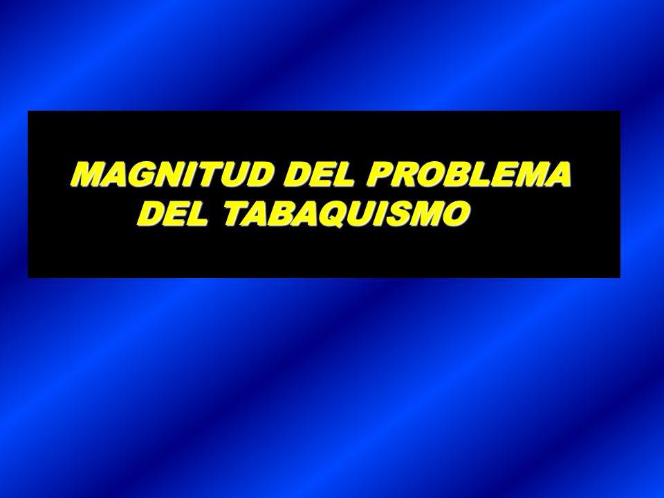 MAGNITUD DEL PROBLEMA DEL TABAQUISMO