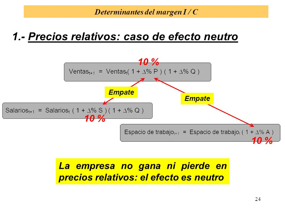 Determinantes del margen I / C