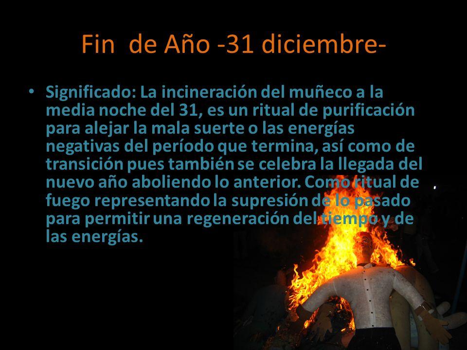 Fin de Año -31 diciembre-