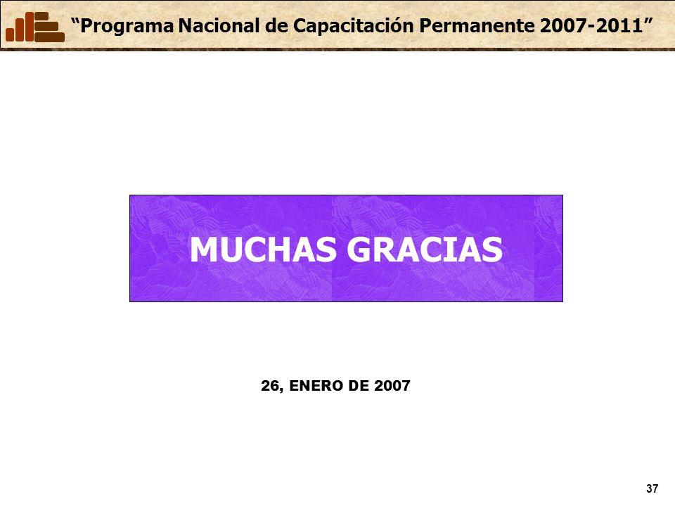 MUCHAS GRACIAS 26, ENERO DE 2007