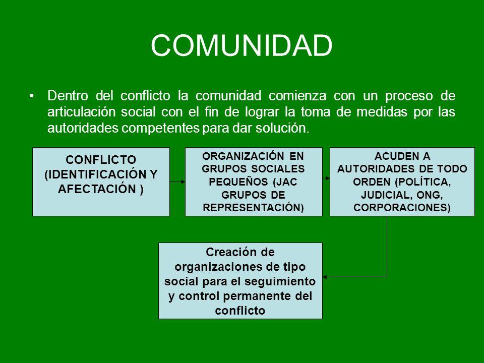 CONFLICTO (IDENTIFICACIÓN Y AFECTACIÓN )