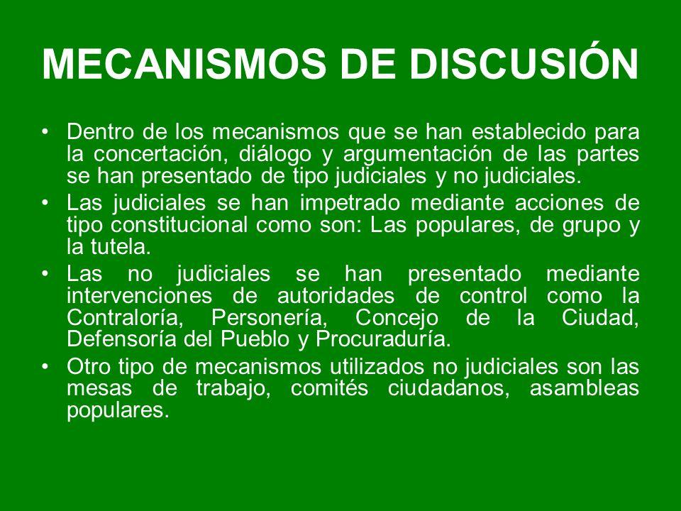 MECANISMOS DE DISCUSIÓN