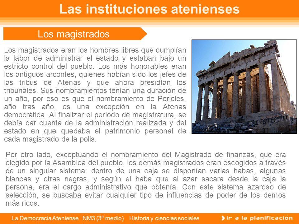 Las instituciones atenienses