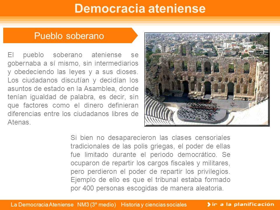 Democracia ateniense Pueblo soberano