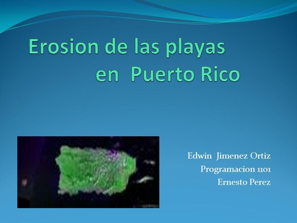 Erosion de las playas en Puerto Rico